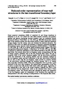 Reduced-order representation of near-wall structures in the late ...