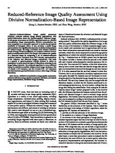 Reduced-Reference Image Quality Assessment ... - Semantic Scholar