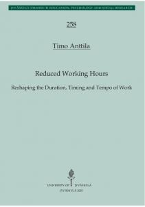 Reduced Working Hours Timo Anttila 258 - JYX