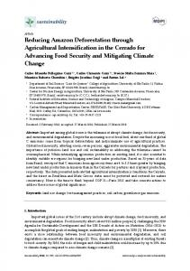 Reducing Amazon Deforestation through Agricultural Intensification in ...