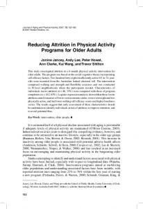 Reducing Attrition in Physical Activity Programs for