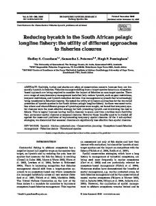Reducing bycatch in the South African pelagic ... - Inter Research