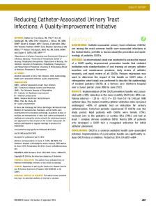 Reducing Catheter-Associated Urinary Tract Infections: A ... - Pediatrics