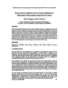 reducing competitive cache misses in modern processor ... - arXiv
