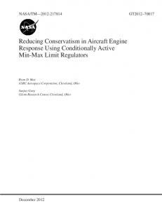 Reducing Conservatism in aircraft Engine Response Using ...