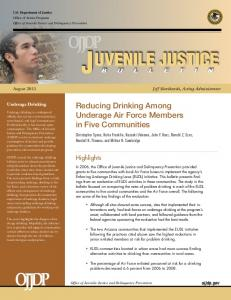 Reducing Drinking Among Underage Air Force Members in Five ...