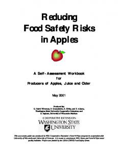 Reducing Food Safety Risks Food Safety Risks in ...