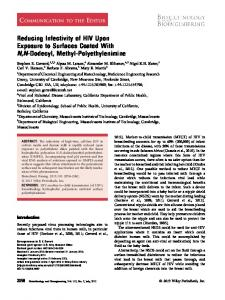 Reducing infectivity of HIV upon exposure to ... - Wiley Online Library