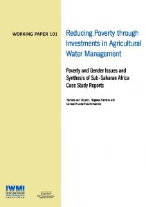 Reducing Poverty through Investments in Agricultural Water ... - Core