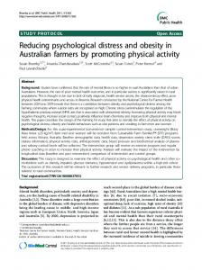 Reducing psychological distress and obesity in ... - ScienceOpen
