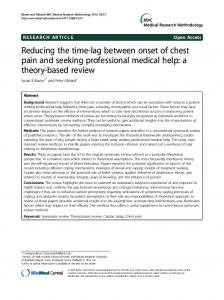 Reducing the time-lag between onset of chest pain ... - Semantic Scholar