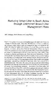 Reducing Urban Litter in South Africa through Catchment Based Litter ...