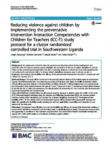 Reducing violence against children by implementing the preventative ...