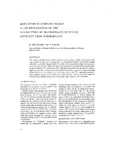 reduction in surface charge as an explanation of the ... - BioMedSearch