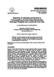 Reduction of Aldehydes and Ketones to