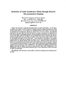 Reduction of Cache Interference Misses through ... - Semantic Scholar