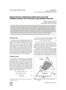 reduction of chromium oxides with calcium carbide during the