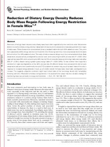 Reduction of Dietary Energy Density Reduces ... - Semantic Scholar