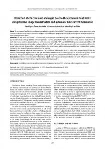 Reduction of effective dose and organ dose to the eye lens in head ...