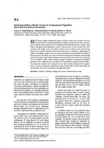 Reduction of Heavy Metals Content in ... - Egyptian Journal of Chemistry