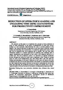 reduction of operator's loading and unloading time using lean systems