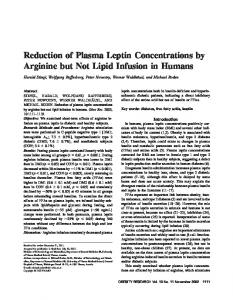 Reduction of Plasma Leptin Concentrations by ... - Wiley Online Library