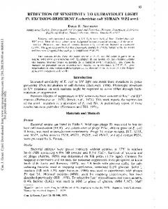 REDUCTION OF SENSITIVITY TO ULTRAVIOLET ...