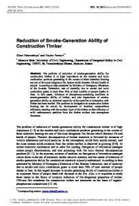 Reduction of Smoke-Generation Ability of Construction Timber