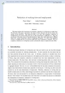 Reduction of working time and employment