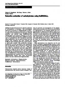 Reductive amination of carbohydrates using NaBH(OAc) - Springer Link