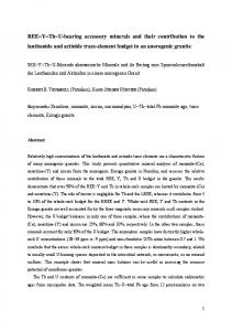 REE-Y-Th-U-bearing accessory minerals and their ...