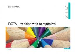 REFA - tradition with perspective