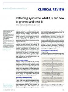 Refeeding syndrome: what it is, and how to prevent and treat it | The BMJ