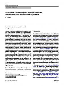 Reference frame stability and nonlinear distortion in ... - CiteSeerX