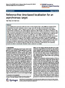 Reference-free time-based localization for an asynchronous target