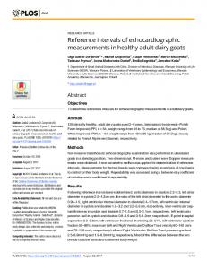 Reference intervals of echocardiographic ... - Semantic Scholar