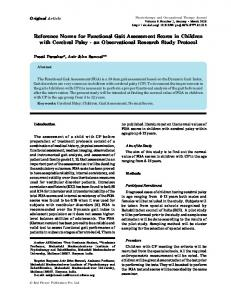 Reference Norms for Functional Gait Assessment Scores in Children ...