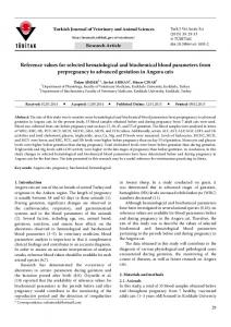 Reference values for selected hematological and ... - DergiPark