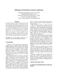 Refinement of 3D Meshes by Selective Subdivision - Semantic Scholar