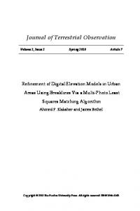 Refinement of Digital Elevation Models in Urban ... - Purdue e-Pubs