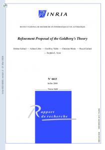 Refinement Proposal of the Goldberg's Theory