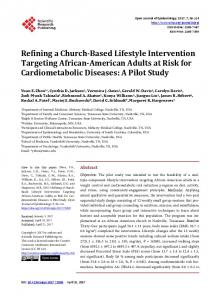 Refining a Church-Based Lifestyle Intervention