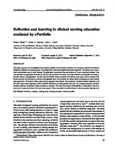 Reflection and learning in clinical nursing education ... - Sciedu Press