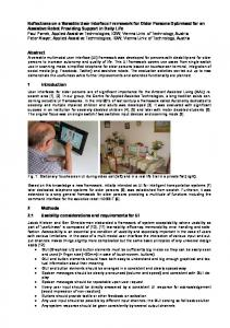 Reflections on a Versatile User Interface Framework for Older Persons ...