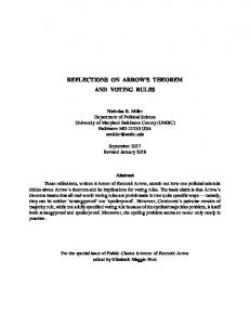 reflections on arrow's theorem and voting rules - UMBC