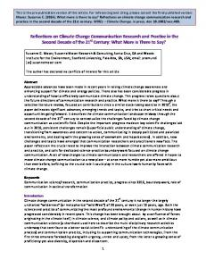 Reflections on Climate Change Communication Research and ...