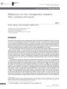 Reflections on Irish management research: Past ...