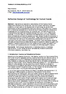 Reflective Design of Technology for Human Needs