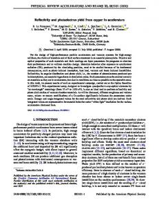 Reflectivity and photoelectron yield from copper in acceleratorswww.researchgate.net › publication › fulltext › Reflectivit
