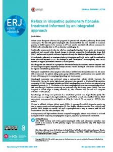 Reflux in idiopathic pulmonary fibrosis: treatment